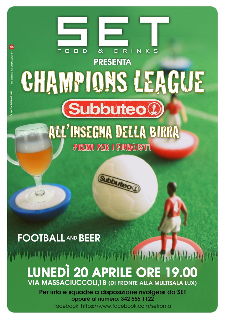 20 Aprile | Champions League Subbuteo @ Set Food & Drinks